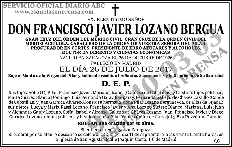 Francisco Javier Lozano Bergua